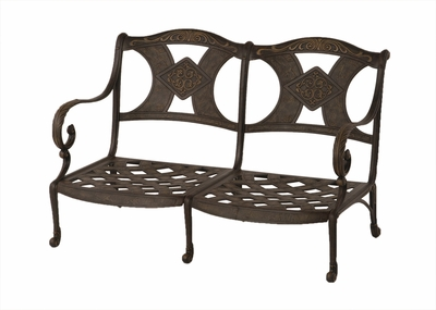 The Amalia Collection Commercial Cast Aluminum Loveseat