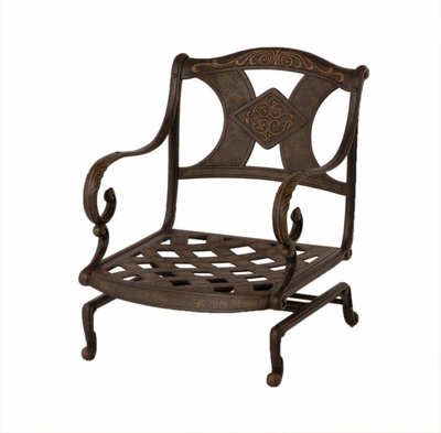 The Amalia Collection Commercial Cast Aluminum Spring Base Club Chair