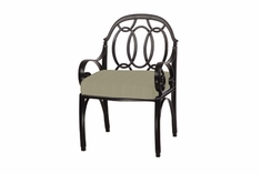 The Ballari Collection Commercial Cast Aluminum Stationary Dining Chair