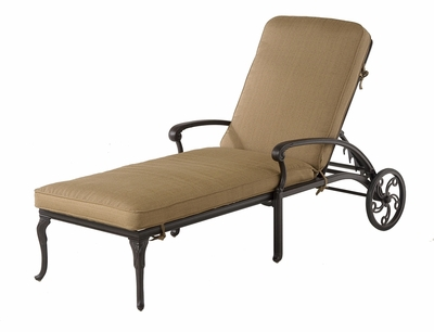 The Barbury Collection Commercial Cast Aluminum Chaise Lounge