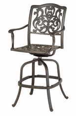 The Bel Aire Collection Commercial Cast Aluminum Swivel Bar Height Chair