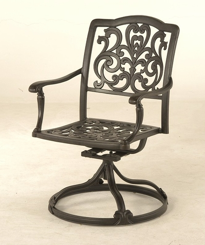 The Bel Aire Collection Commercial Cast Aluminum Swivel Dining Chair