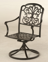 The Boyton Collection Commercial Cast Aluminum Swivel Dining Chair