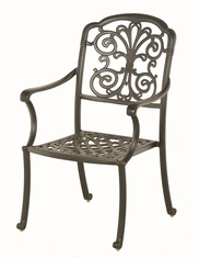 The Boyton Collection Commercial Cast Aluminum Stationary Dining Chair