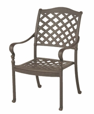 The Borio Collection Commercial Cast Aluminum Stationary Dining Chair