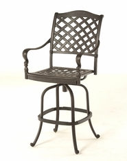 The Borio Collection Commercial Cast Aluminum Swivel Bar Height Chair