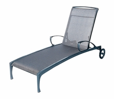 The Bessa Collection Commercial Cast Aluminum Sling Chaise Lounge