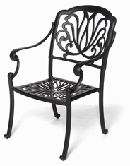 The Del-Mar Collection Commercial Cast Aluminum Stationary Dining Chair