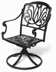The Del-Mar Collection Commercial Cast Aluminum Swivel Dining Chair