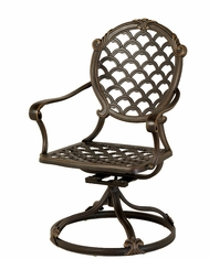 The Brevard Collection Commercial Cast Aluminum Swivel Dining Chair