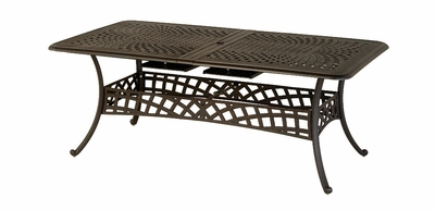 "The Borio Collection Commercial Cast Aluminum 42"" x 76"" Rectangle Expansion Dining Table"