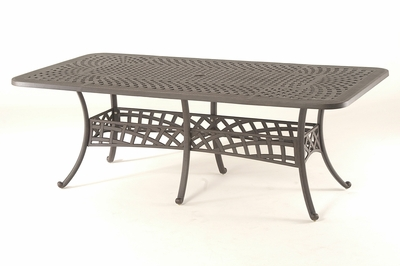 """The Borio Collection Commercial Cast Aluminum 42"""" x 84"""" Rectangle Dining Table"""