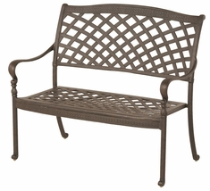 The Borio Collection Commercial Cast Aluminum Bench