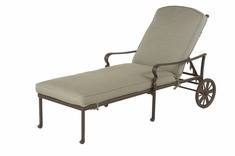 The Borio Collection Commercial Cast Aluminum Chaise Lounge