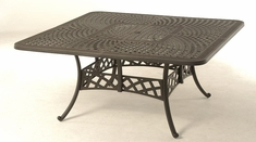 The Borio Collection Commercial Cast Aluminum Square Dining Table