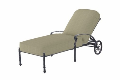 The Bouvier Collection Commercial Cast Aluminum Chaise Lounge