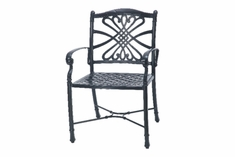 The Bouvier Collection Commercial Cast Aluminum Stationary Dining Chair
