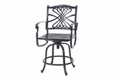 The Bouvier Collection Commercial Cast Aluminum Swivel Counter Height Chair