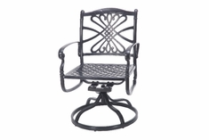 The Bouvier Collection Commercial Cast Aluminum Swivel Dining Chair