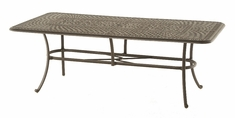 "The Boyton Collection Commercial Cast Aluminum 42"" x 84"" Rectangle Dining Table"