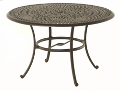 "The Boyton Collection Commercial Cast Aluminum 48"" Round Dining Table"
