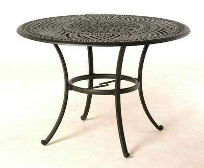 """The Boyton Collection Commercial Cast Aluminum 54"""" Round Counter Height Dining Table With Inlaid Lazy Susan"""