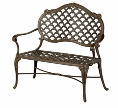 The Brevard Collection Commercial Cast Aluminum Bench