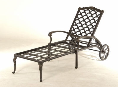 The Brevard Collection Commercial Cast Aluminum Chaise Lounge