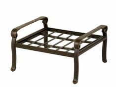 The Brevard Collection Commercial Cast Aluminum Ottoman