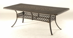 The Brevard Collection Commercial Cast Aluminum Rectangle Dining Table