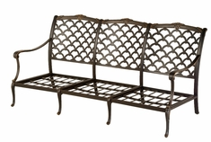 The Brevard Collection Commercial Cast Aluminum Sofa