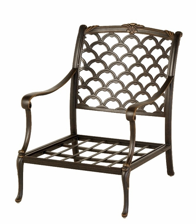 The Brevard Collection Commercial Cast Aluminum Stationary Club Chair