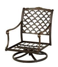 The Brevard Collection Commercial Cast Aluminum Swivel Club Chair