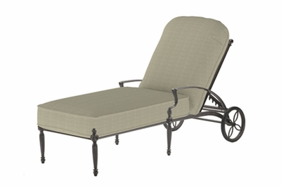The Brielle Collection Commercial Cast Aluminum Chaise Lounge