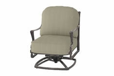 The Brielle Collection Commercial Cast Aluminum Standard Back Swivel Club Chair
