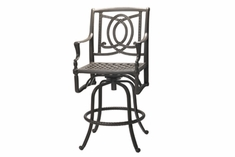 The Brielle Collection Commercial Cast Aluminum Swivel Bar Height Chair