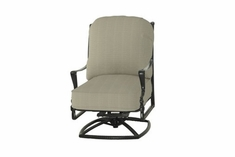 The Brielle Collection Commercial Cast Aluminum Swivel High Back Club Chair
