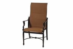 The Brielle Collection Commercial Padded Sling High Back Stationary Dining Chair