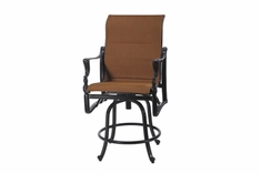 The Brielle Collection Commercial Padded Sling Swivel Counter Height Chair