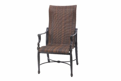 The Brielle Collection Commercial Wicker High Back Stationary Dining Chair