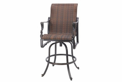 The Brielle Collection Commercial Wicker Swivel Bar Height Chair