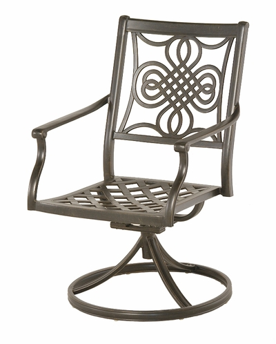 The Brio Collection Commercial Cast Aluminum Swivel Dining Chair