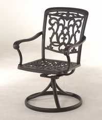 The Barbury Collection Commercial Cast Aluminum Swivel Dining Chair