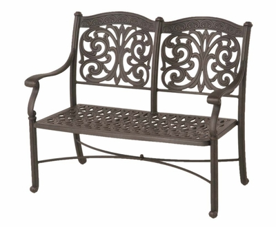 The Byanca Collection Commercial Cast Aluminum Bench