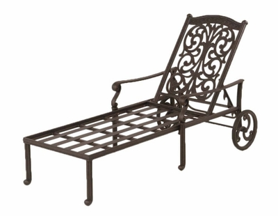 The Byanca Collection Commercial Cast Aluminum Chaise Lounge