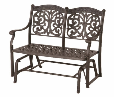 The Byanca Collection Commercial Cast Aluminum Double Glider