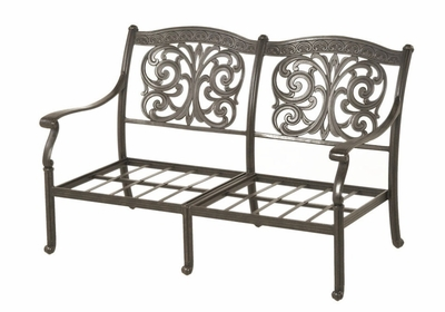 The Byanca Collection Commercial Cast Aluminum Loveseat