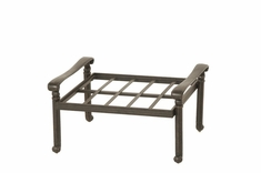 The Byanca Collection Commercial Cast Aluminum Ottoman