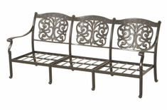 The Byanca Collection Commercial Cast Aluminum Sofa