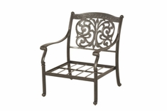 The Byanca Collection Commercial Cast Aluminum Stationary Club Chair